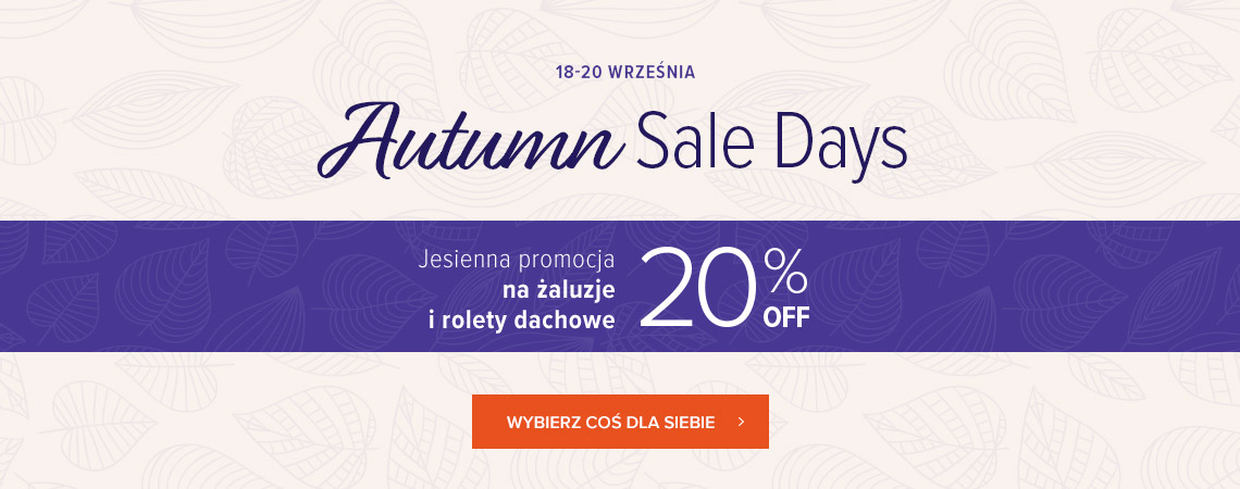 Autumn sale days