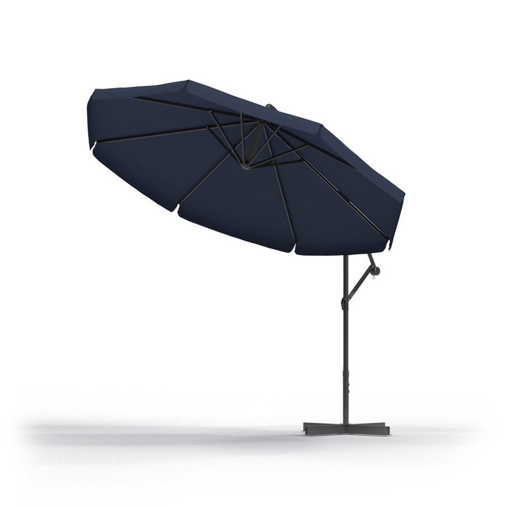 Parasol Ogrodowy Okrągły 3m, Granatowy