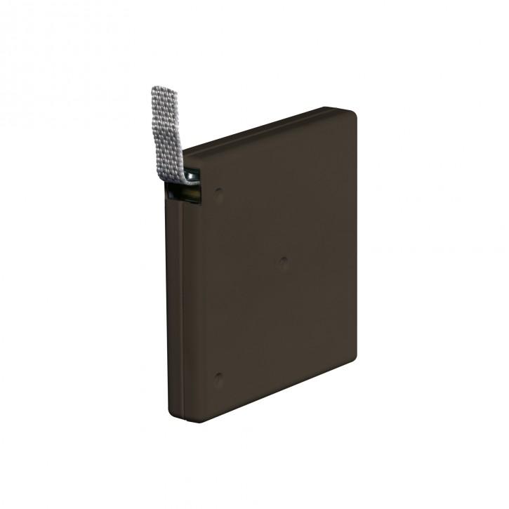 Natynkowy, przykręcany zwijacz z taśmą o dł. 5 m (do taśmy o szer. 15 mm)