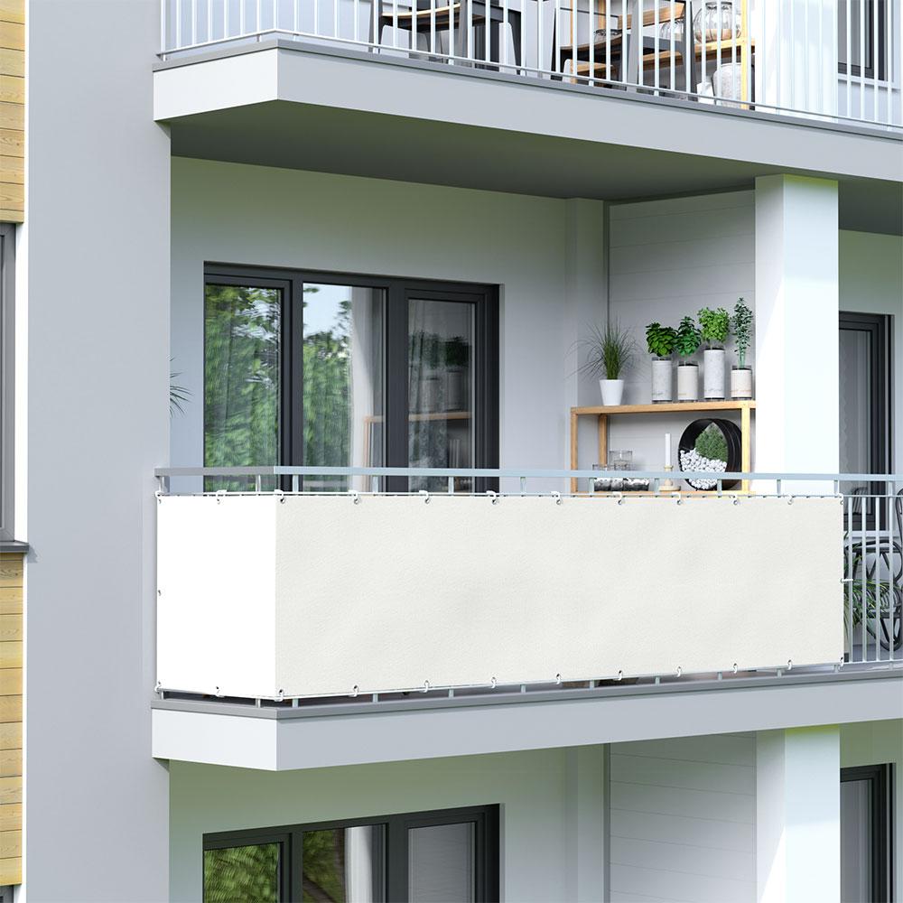 Osłona balkonowa Basic, wodoodporna, Kremowy