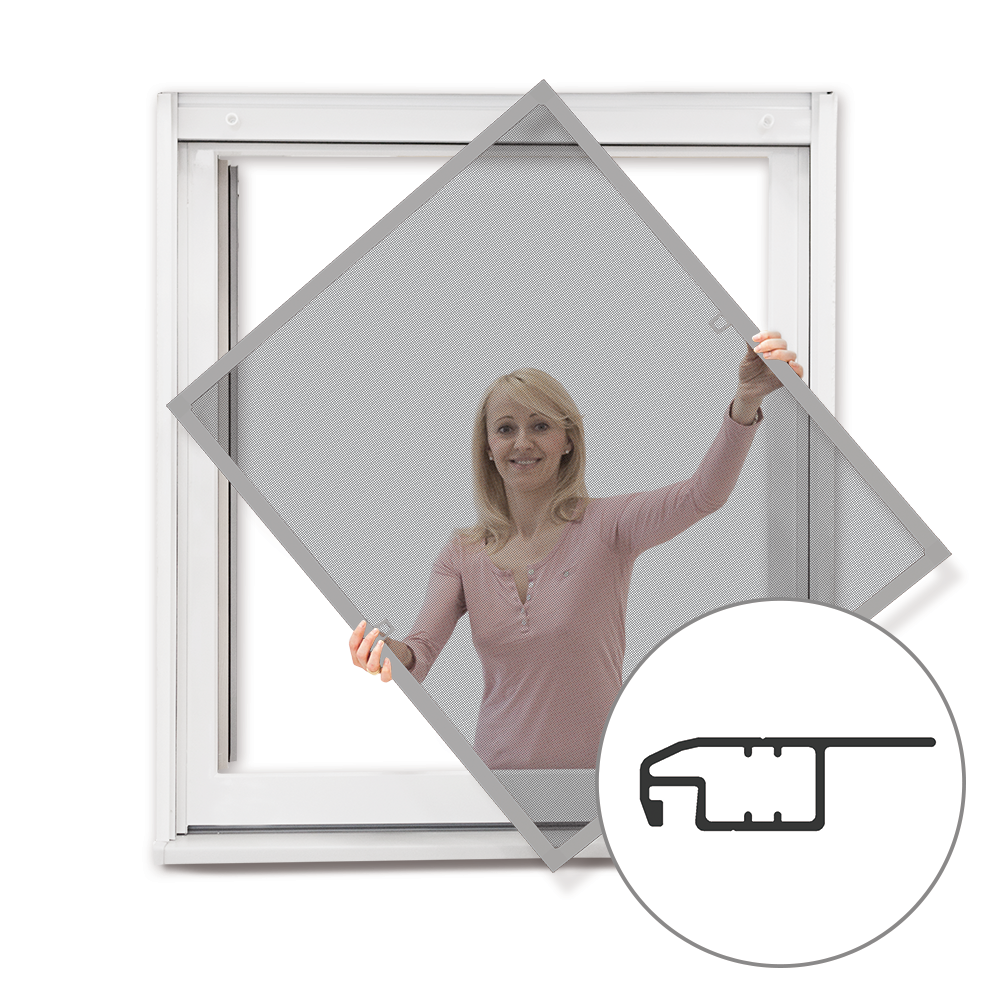 Moskitiera ramkowa okienna, Gotowa, Srebrny