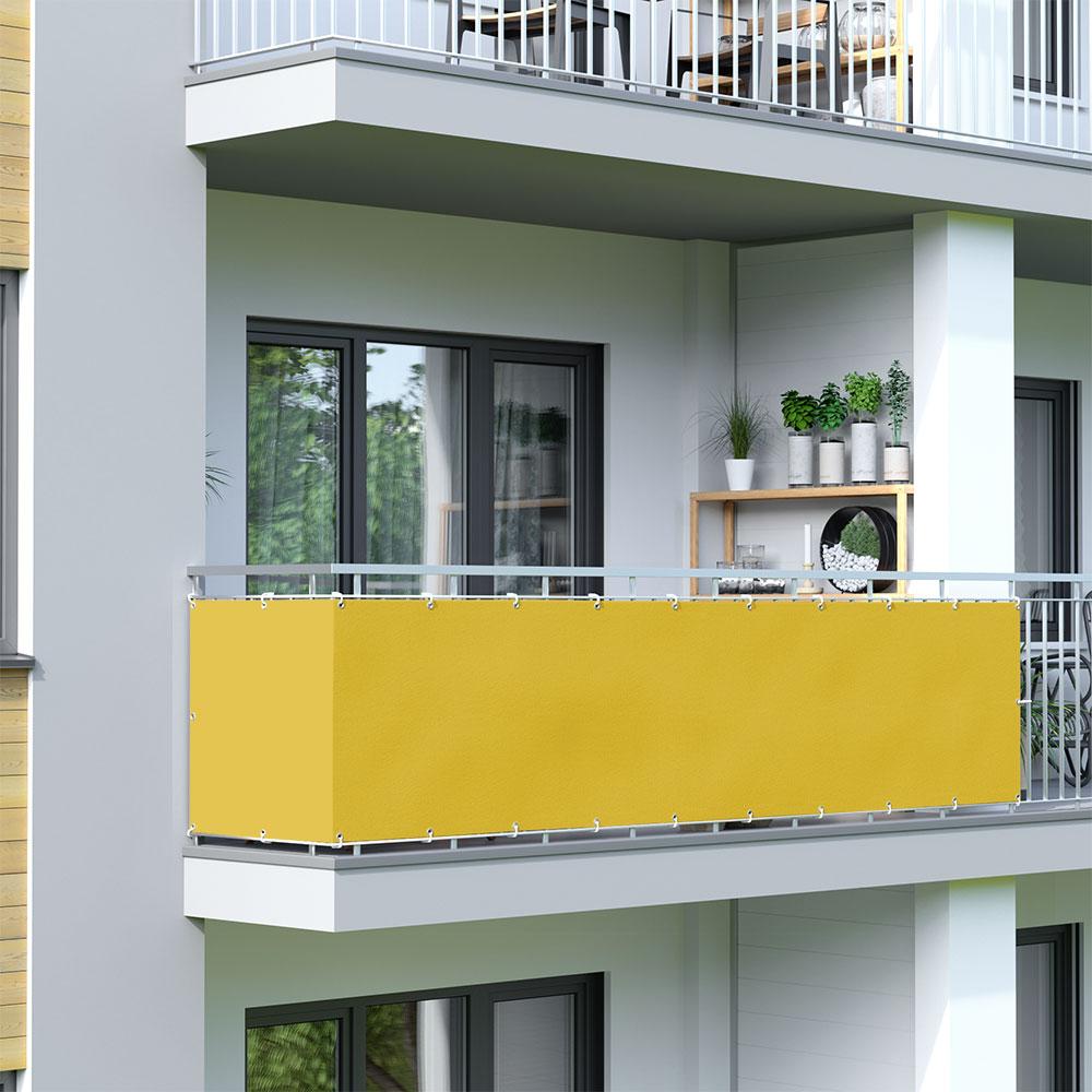 Osłona balkonowa Basic, wodoodporna, Żółty