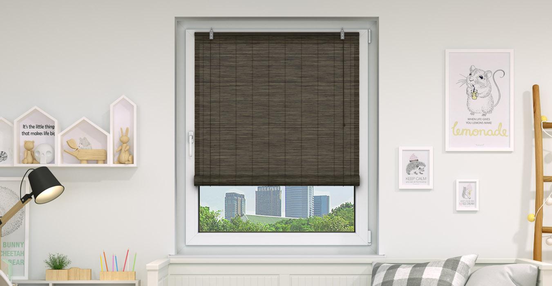 Bamboo Roller Blinds Blind Window Oriental Designs Hanging