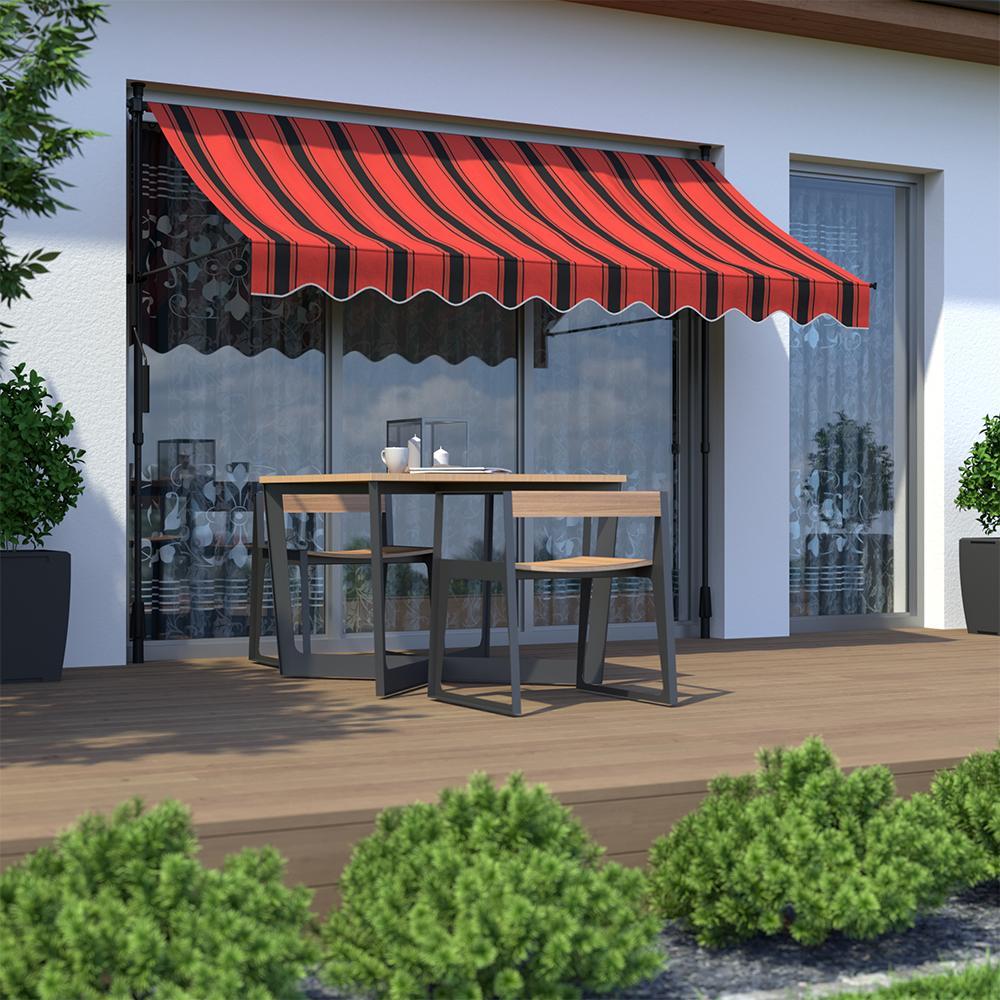Markiza balkonowa, Gotowa, Pomarańczowo-czarny