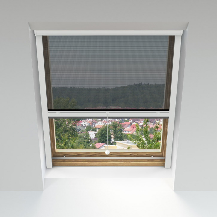 Moskitiera rolowana, Na okna dachowe, Na wymiar
