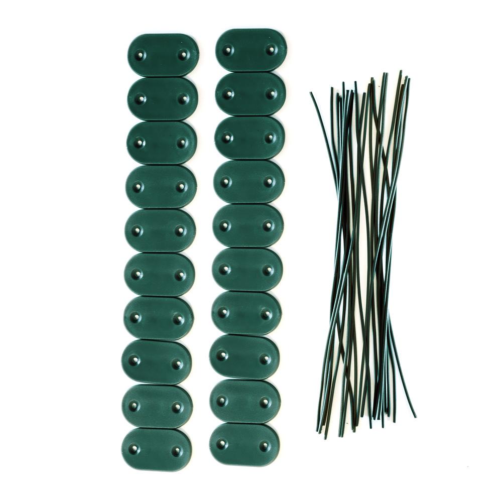 Elementy mocujące do płotków ogrodowych PVC, Zielony
