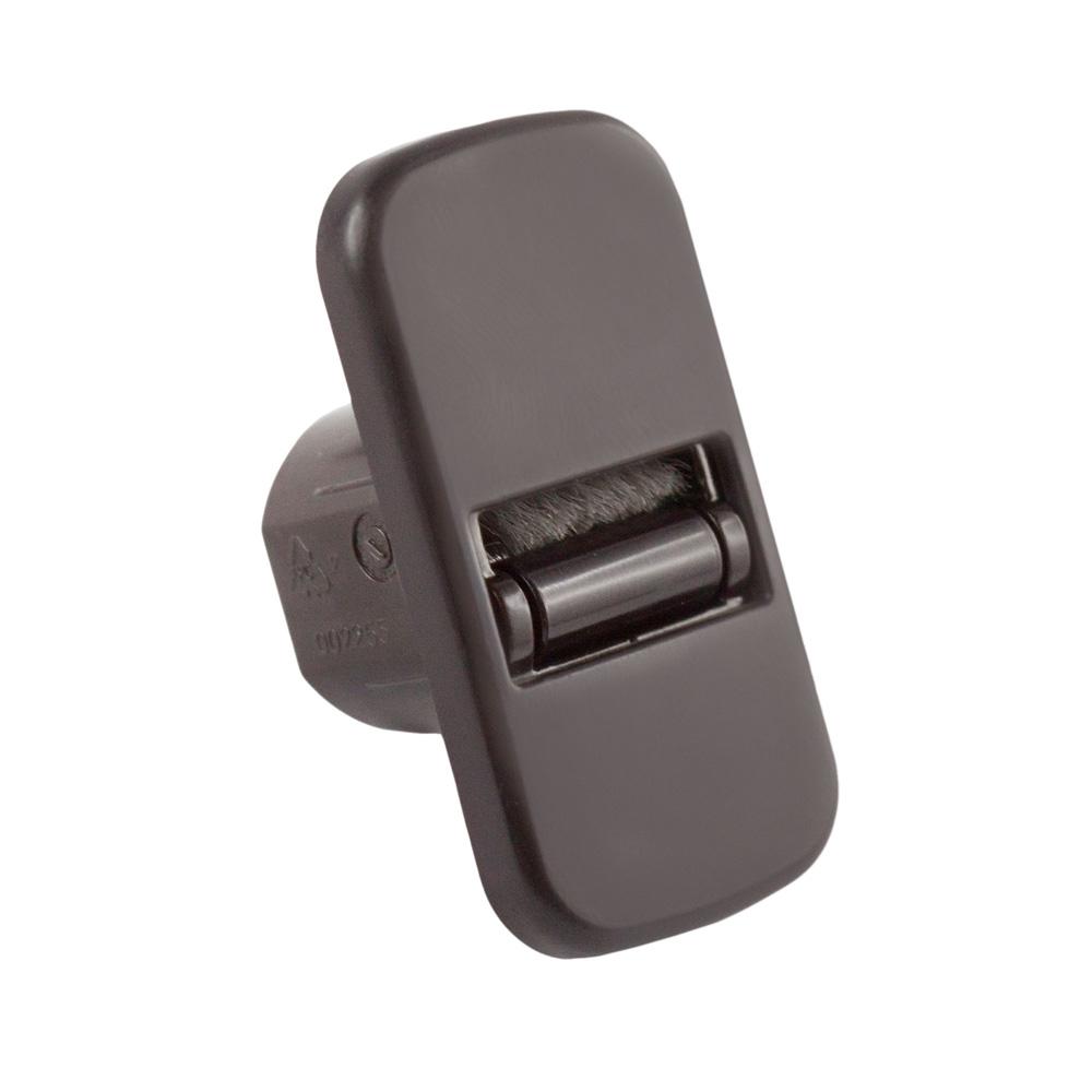 Mini prowadnica taśmy z uszczelnieniem szczotkowym, szer. taśmy 15 mm, Brązowy