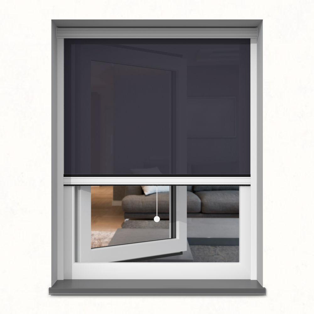 Roleta okienna screen, W kasecie, Na wymiar, Onyks