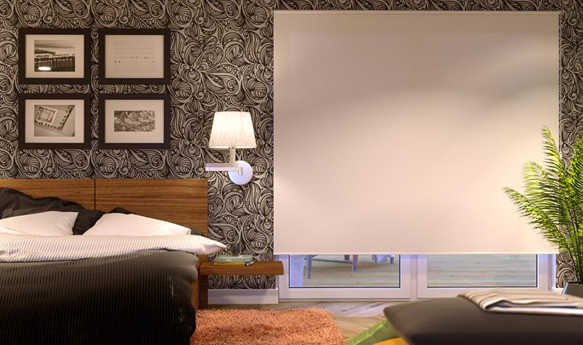 Roleta materiałowa wolnowisząca do dużych okien