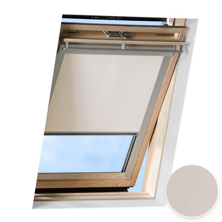 Roleta do okien dachowych Velux, Zaciemniająca, Kremowy