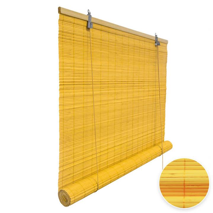 Roleta bambusowa, Gotowa, Żółty