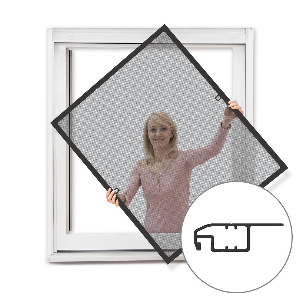 Moskitiera ramkowa okienna, Gotowa, Antracytowy