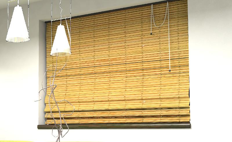 Rolety bambusowe w pokoju