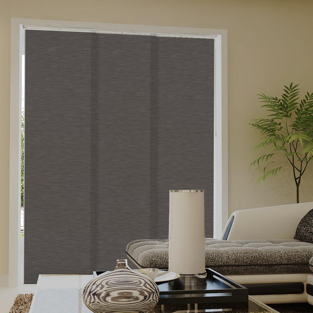 Zasłona panelowa z tkaniny strukturalnej, Gotowa, Szary