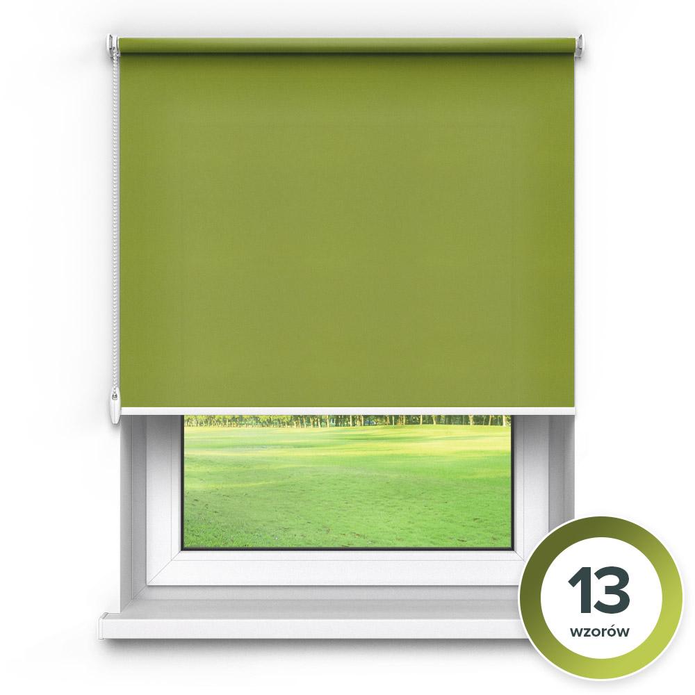 Rolety materiałowe wolnowiszące, Przyciemniające, Na wymiar, PREMIUM, Zielony