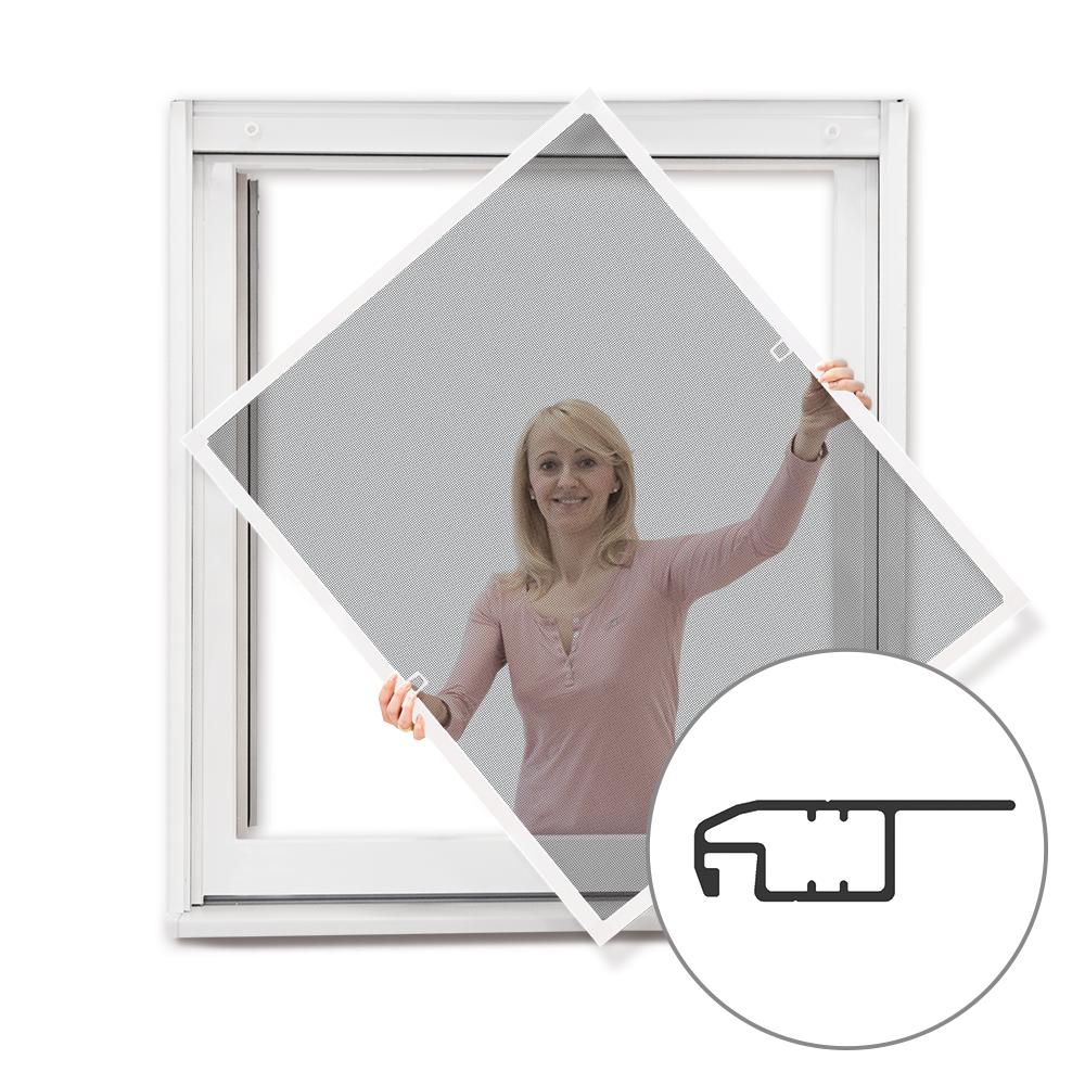 Moskitiera ramkowa okienna, Gotowa, biała, 60x150 cm