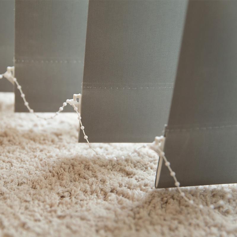 Przyciemniające lamele do żaluzji pionowych Victoria-M, Srebrny