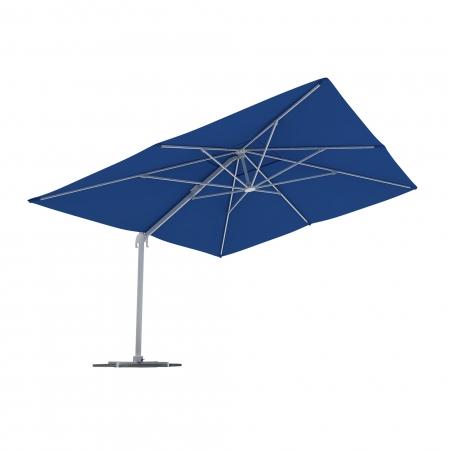 Parasol Na Wysięgniku, Prostokątny, 4x3 m, Niebieski
