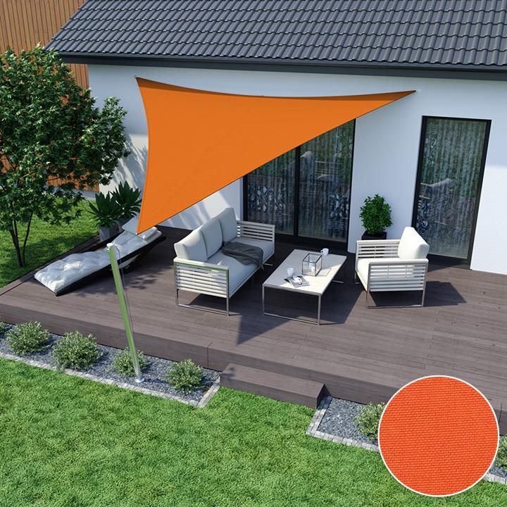 Żagiel przeciwsłoneczny, trójkątny, z tkaniny wodoodpornej, Pomarańczowy