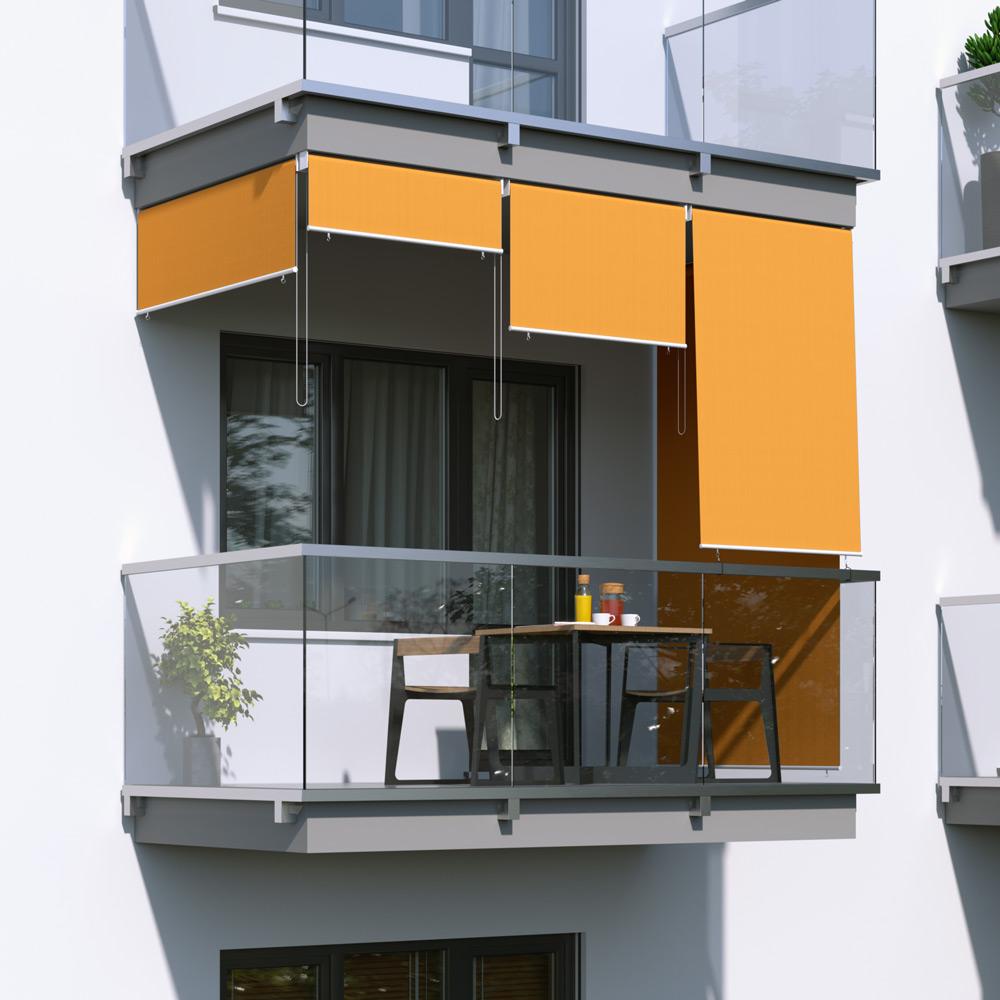 Roleta na balkon/markiza pionowa, Pomarańczowy