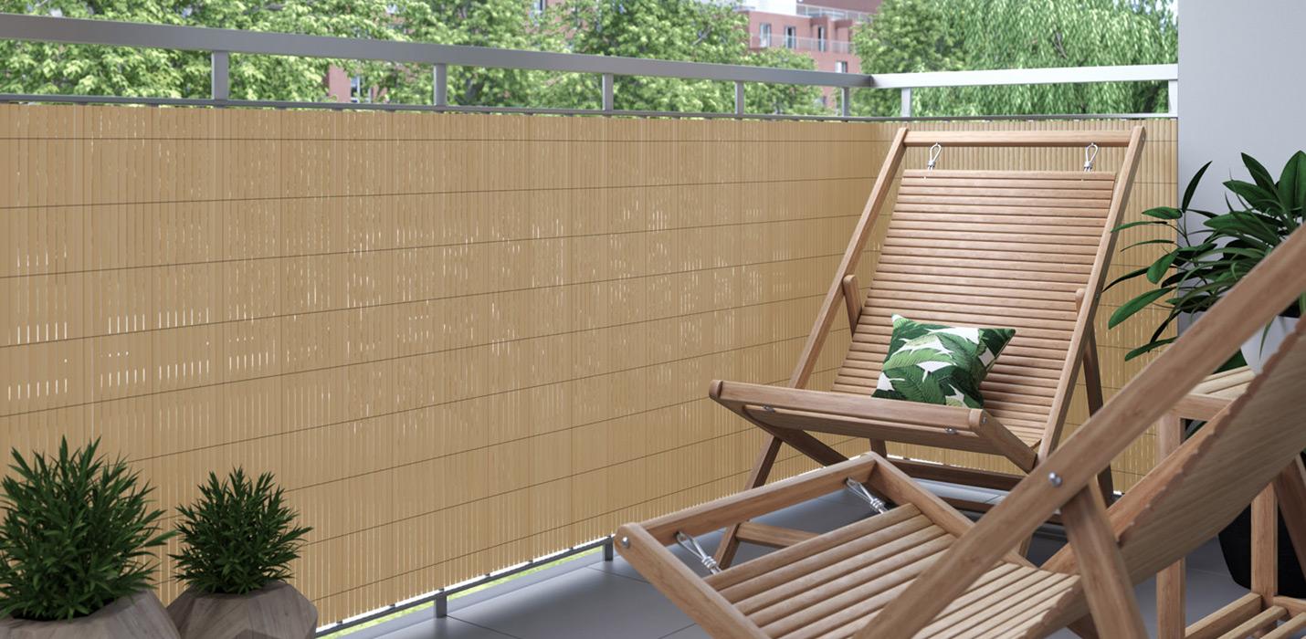 Bamboo Pvc Mat Screen Border Panel Fence Garden Wall