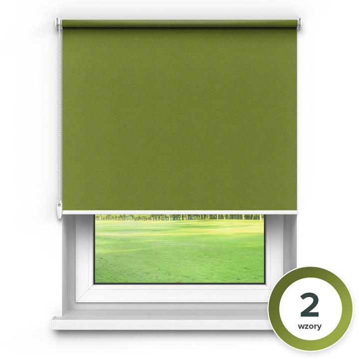 Rolety materiałowe wolnowiszące, Zaciemniające, Na wymiar, PREMIUM, Zielony