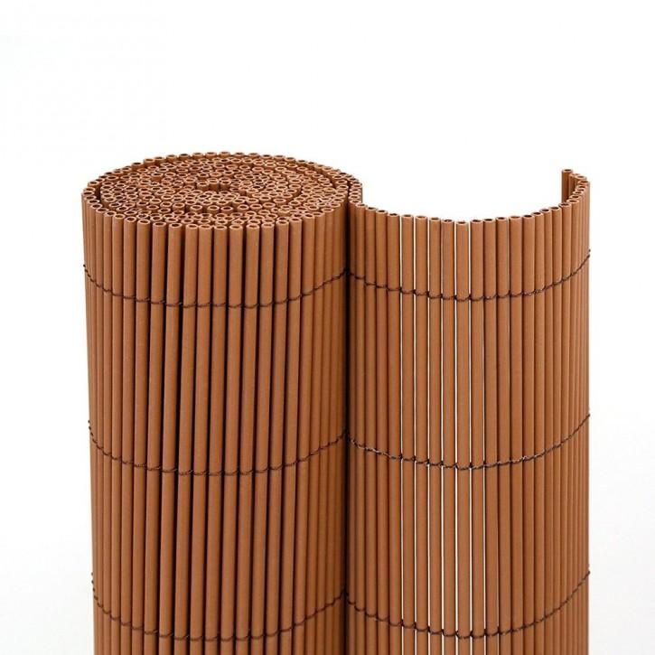 Płotek ogrodowy PVC, EKO, Brązowy