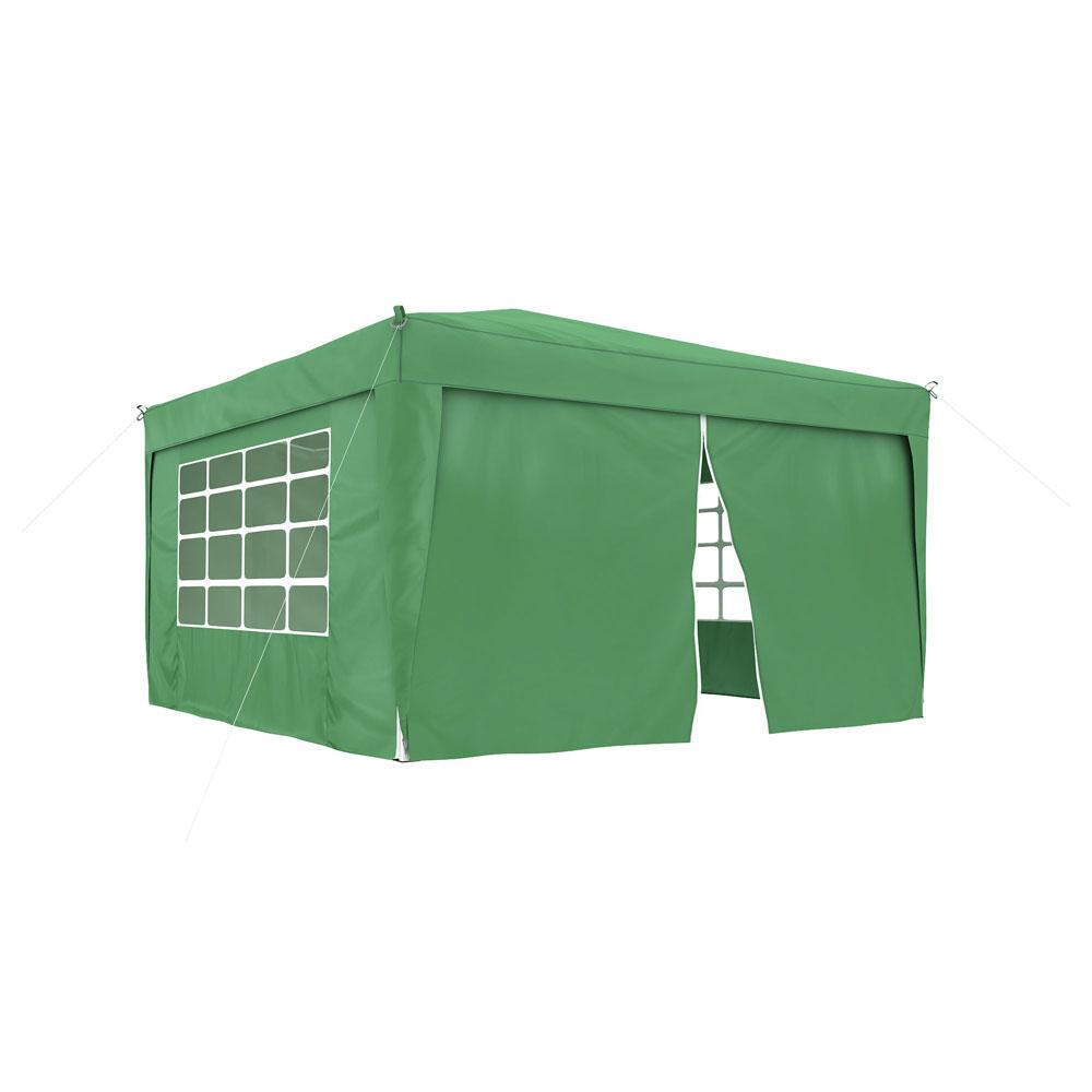 Ścianka z zamkiem do pawilonów ogrodowych Premium i Basic, 295x195 cm, Zielony