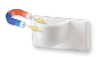 Uchwyty magnetyczne do żaluzji, białe, 2 sztuki