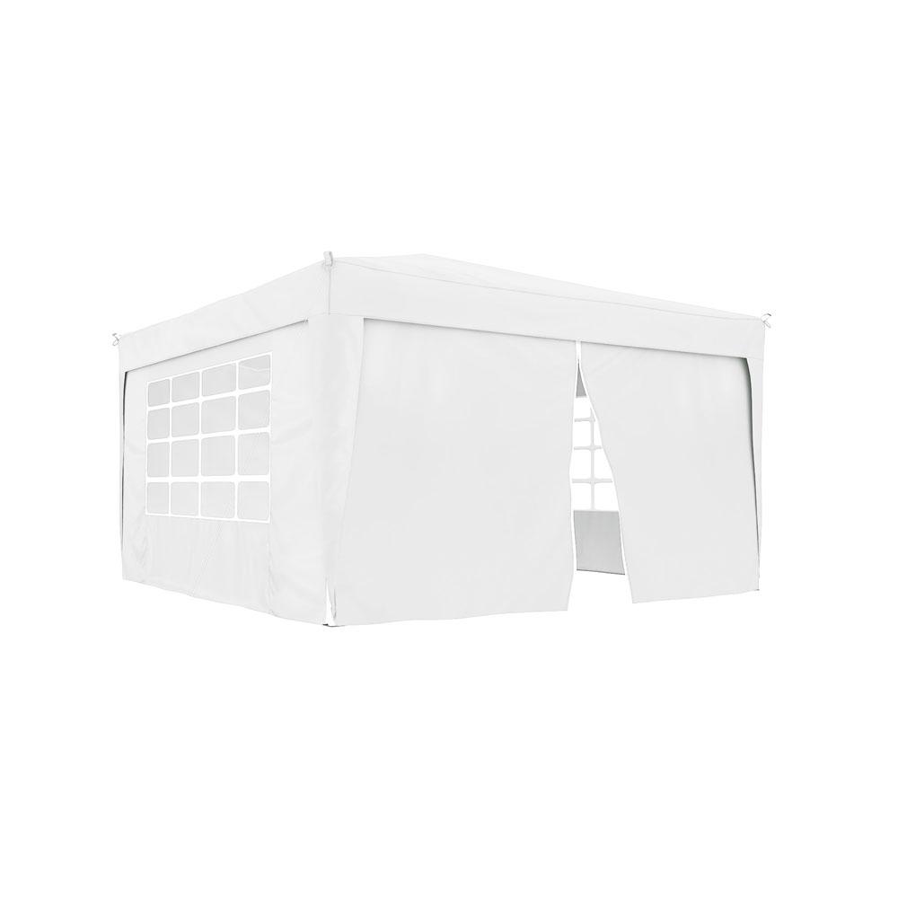 Ścianka z zamkiem do pawilonów ogrodowych Premium i Basic, 295x195 cm, Biały