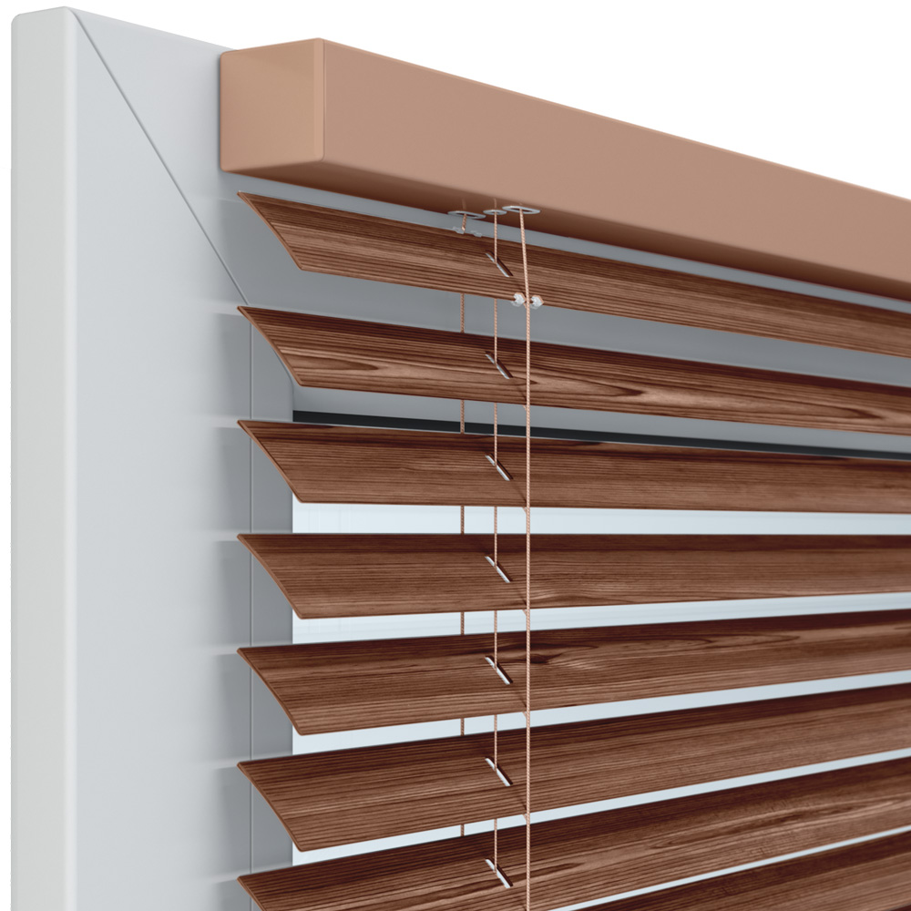 Żaluzja aluminiowa, 25 mm, Na wymiar, Drewno