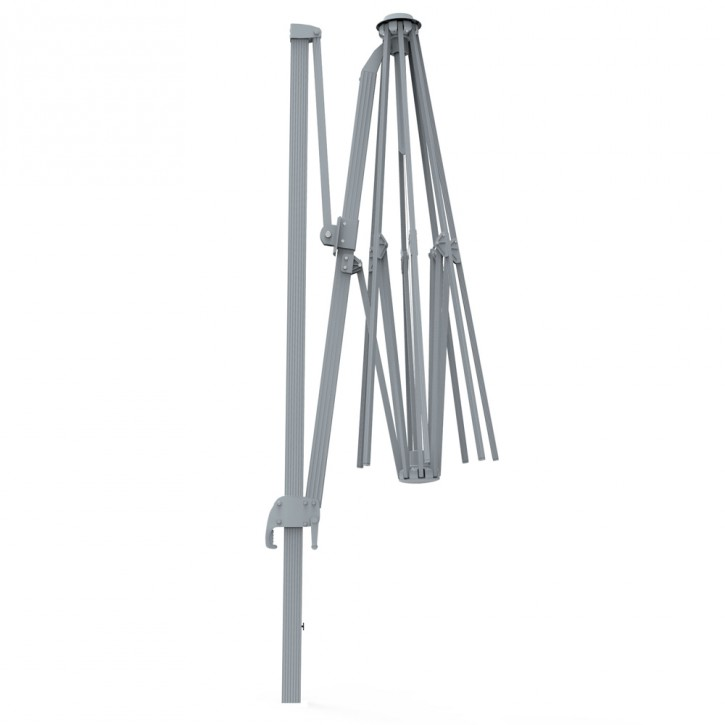 Stelaż aluminiowy do prostokątnego parasola na wysięgniku 4x3 m