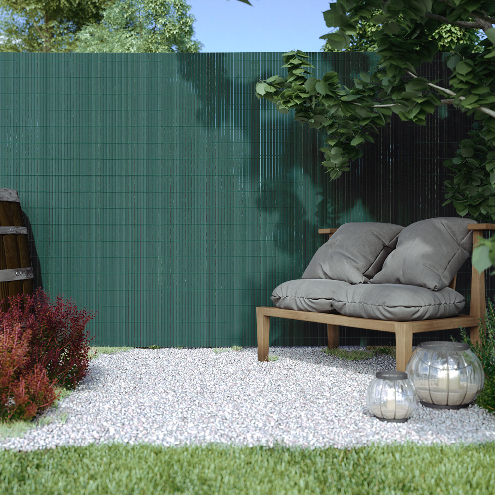 Płotek ogrodowy, Zielony, 140cm x 300cm, PVC