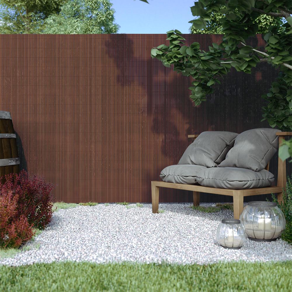 Płotek ogrodowy PVC Standard, szer. listwy 13 mm, Brązowy