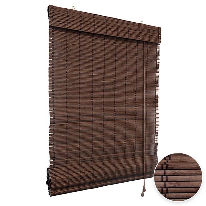 Roleta bambusowa rzymska, Gotowa, Ciemnobrązowy