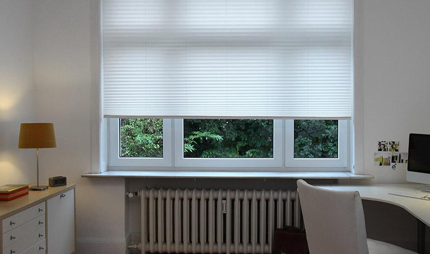 Roleta plisowana na duże okna