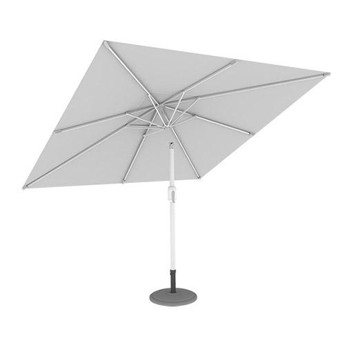 Parasol Ogrodowy, Kwadratowy, 3x3 m, Biały