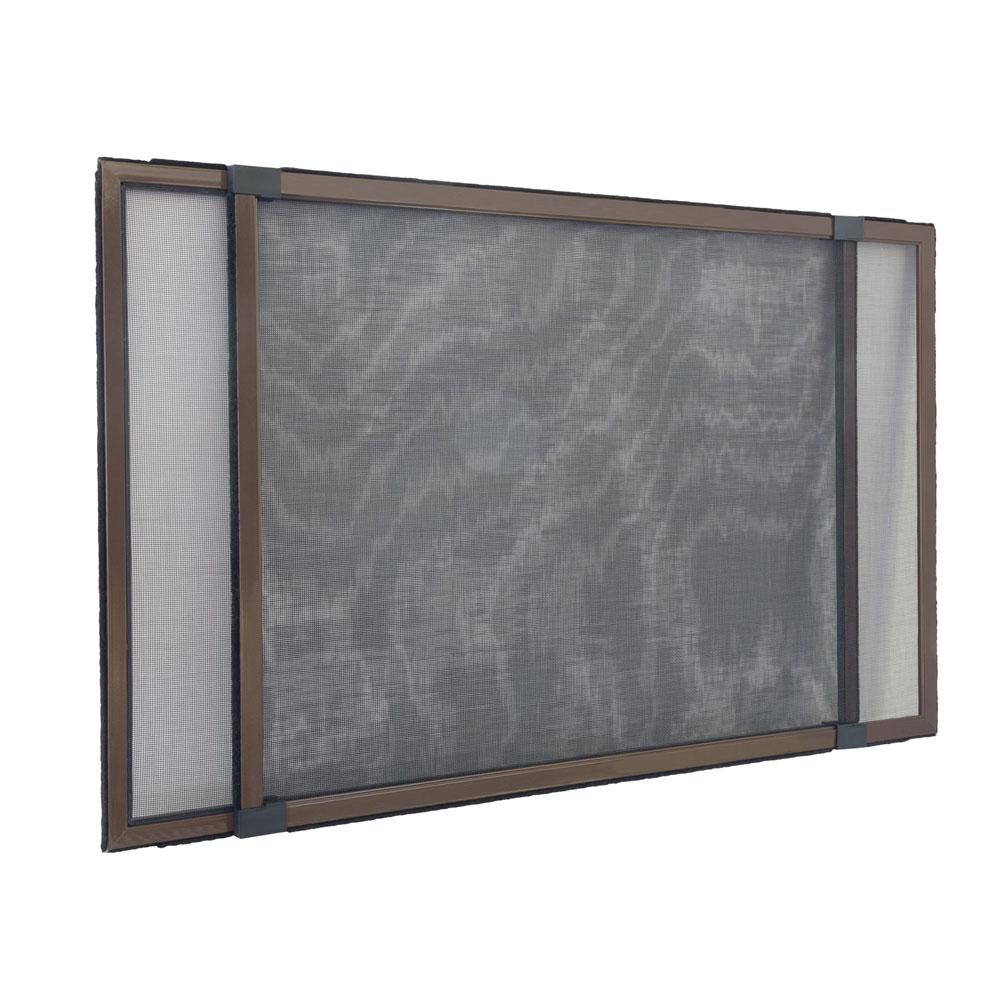 Moskitiera przesuwna, Do okien z roletami, Gotowa, Brązowy