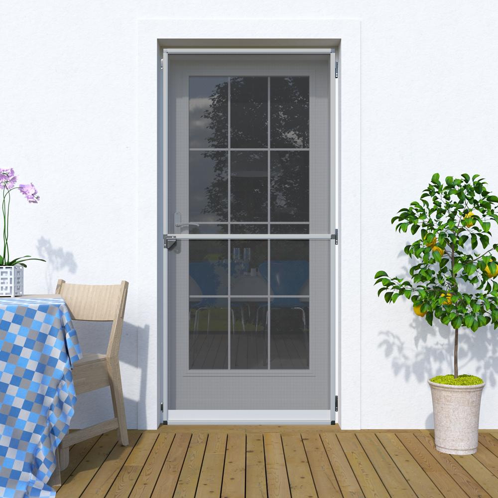 Moskitiera drzwiowa, Na zawiasach 120x220 cm, Gotowa, Srebrny