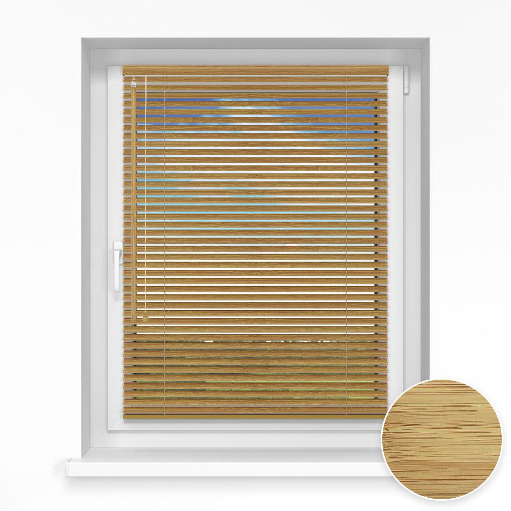 Żaluzja bambusowa, 25 mm, Na wymiar, Sezam