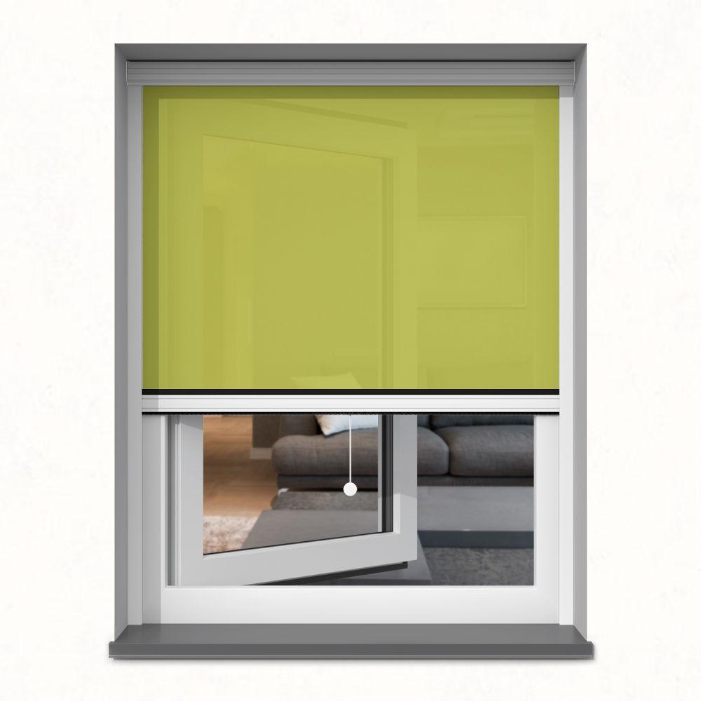 Roleta okienna screen, W kasecie, Na wymiar, Berberys Zielony