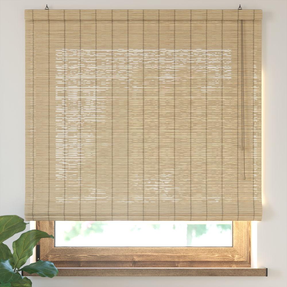 Roleta bambusowa rzymska, Gotowa, Naturalny