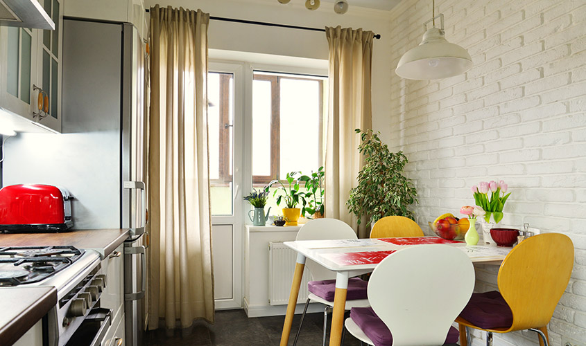 kolor zasłon do kuchni