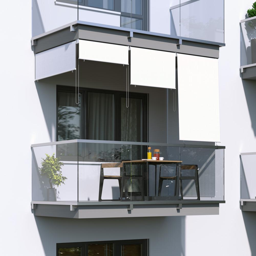 Roleta na balkon/markiza pionowa, Biały
