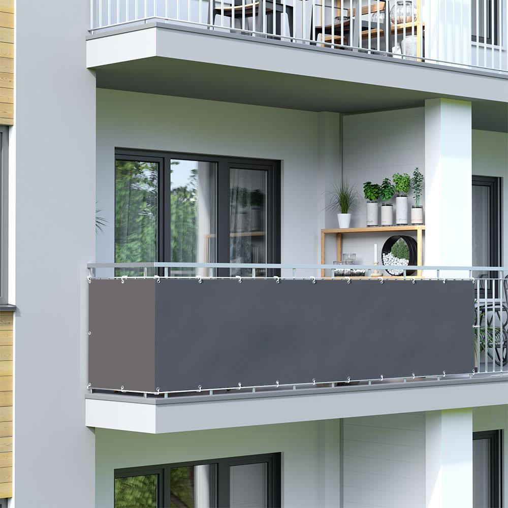 Osłona balkonowa Basic, wodoodporna, Antracytowy