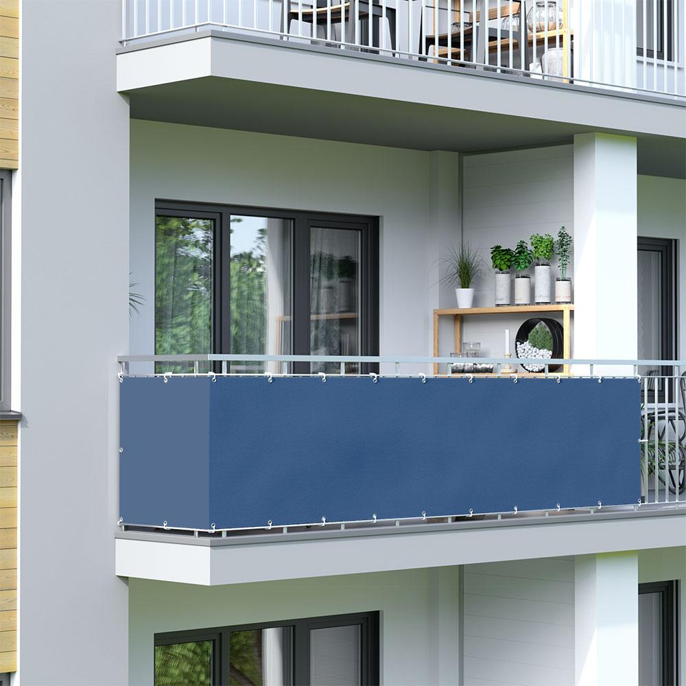 Osłona balkonowa Basic, wodoodporna, Lazurowy