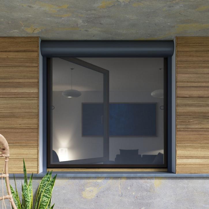 Moskitiera do okien z roletami zewnętrznymi
