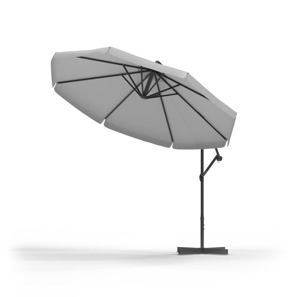 Parasol Ogrodowy Okrągły 3m, Szary