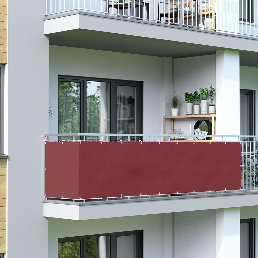 Osłona balkonowa Basic, wodoodporna, Bordowy
