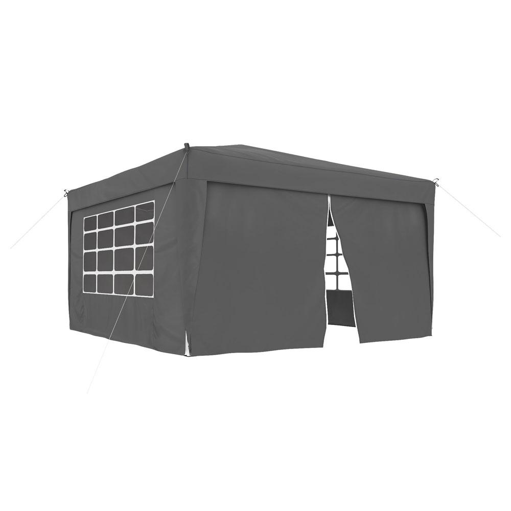 Ścianka z zamkiem do pawilonów ogrodowych Premium i Basic, 295x195 cm, Antracytowy